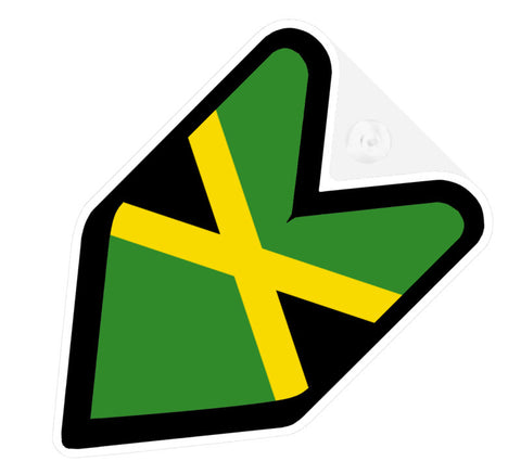 Jamaican Flag JDM Decal Badge