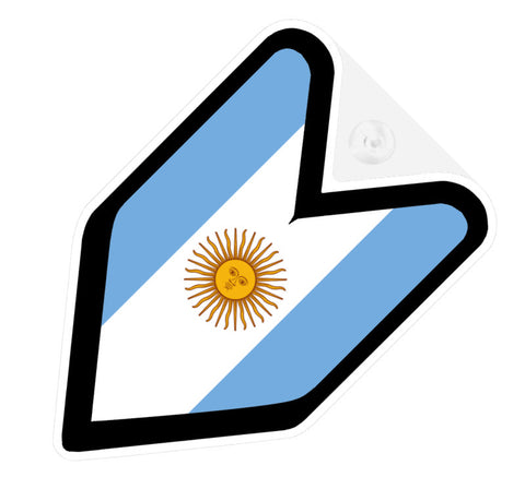 Argentinian Flag JDM Decal Badge