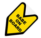Babe On Board JDM Decal Badge
