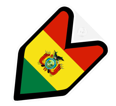 Bolivian Flag JDM Decal Badge