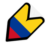 Colombia Flag JDM Decal Badge