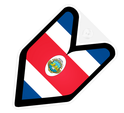Costa Rica Flag JDM Decal Badge