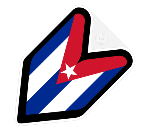 Cuba Flag JDM Decal Badge