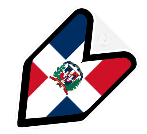 Dominican Flag JDM Decal Badge