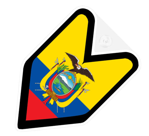 Ecuadorian Flag JDM Decal Badge