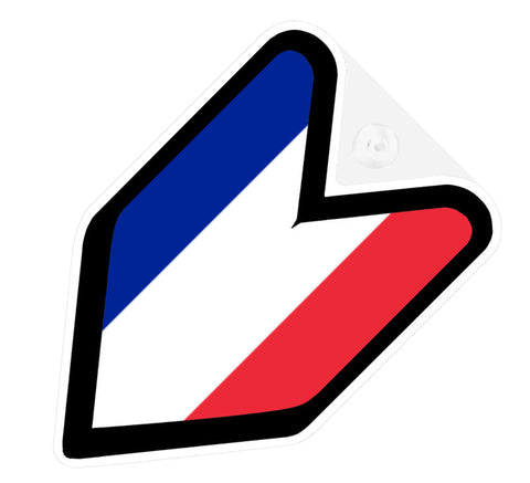 French Flag JDM Decal Badge