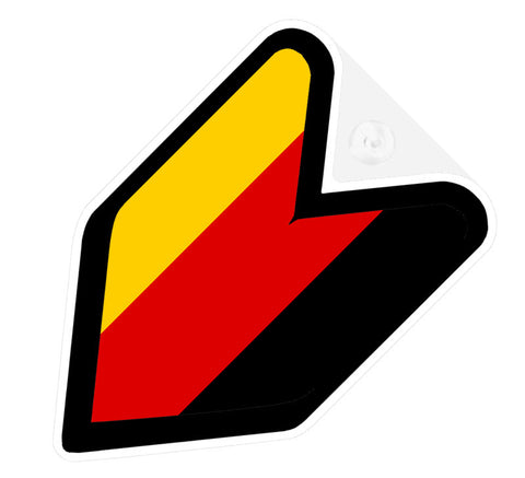 German Flag JDM Decal Badge