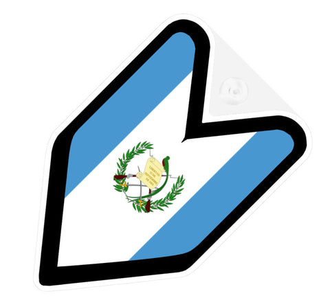 Guatemalan Flag JDM Decal Badge