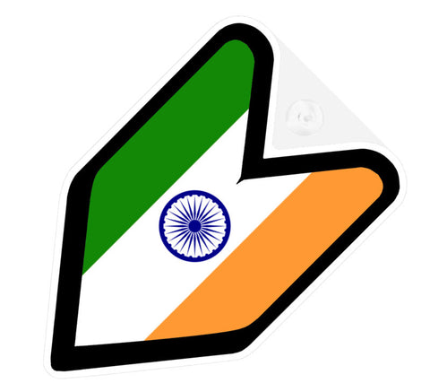 Indian Flag JDM Decal Badge