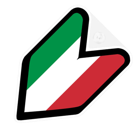 Italian Flag JDM Decal Badge