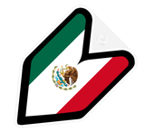 Mexico Flag JDM Decal Badge