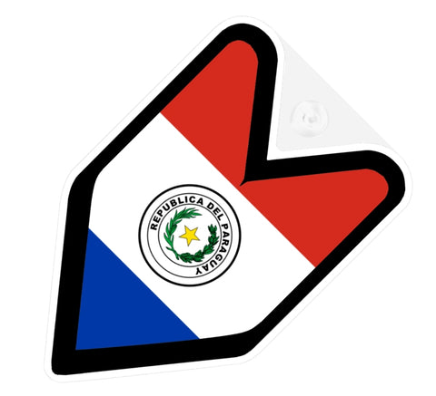 Paraguay Flag JDM Decal Badge