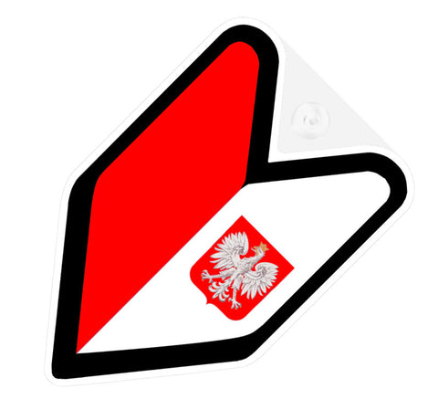 Polish Flag JDM Decal Badge