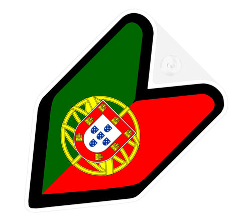 Portugese Flag JDM Decal Badge
