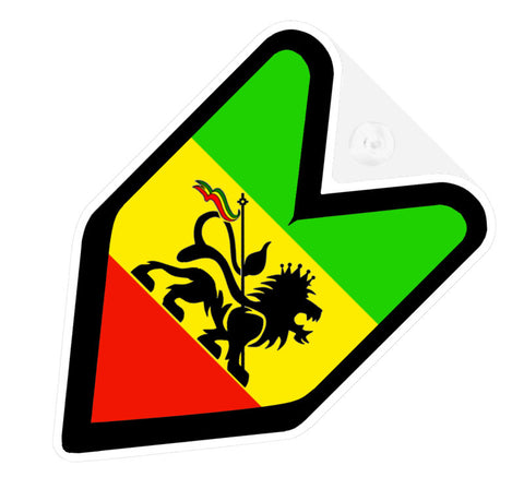 Rastafari JDM Decal Badge