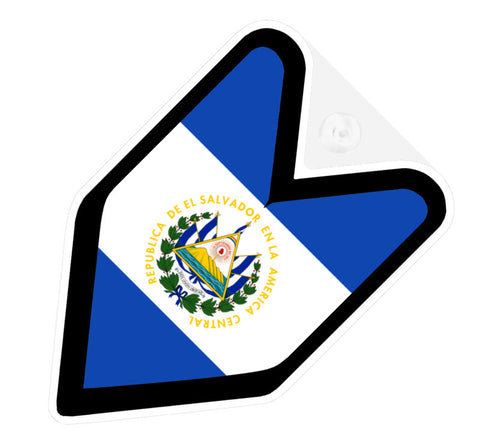 Salvadorian Flag JDM Decal Badge