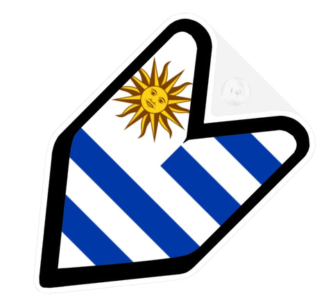 Uruguay Flag JDM Decal Badge