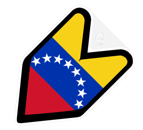 Venezuelan Flag JDM Decal Badge