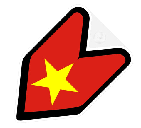 Vietnam Flag JDM Decal Badge