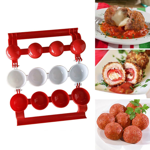 Edenware Easy Meatballs Maker, Red and White