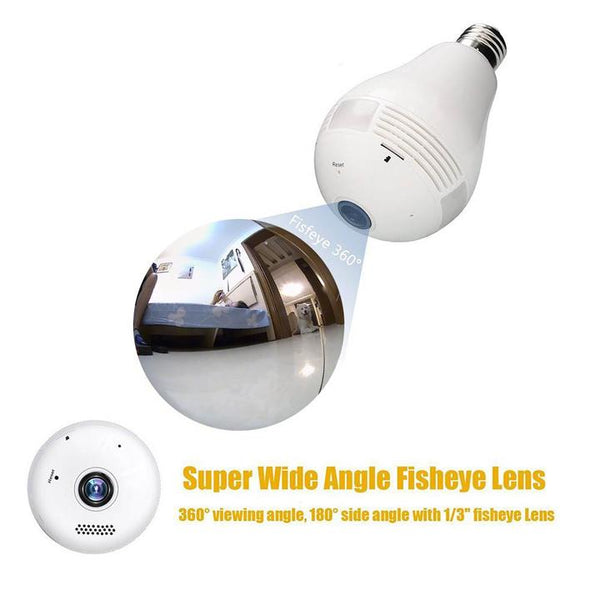 360° Fisheye Lens Panoramic HD Hidden Camera