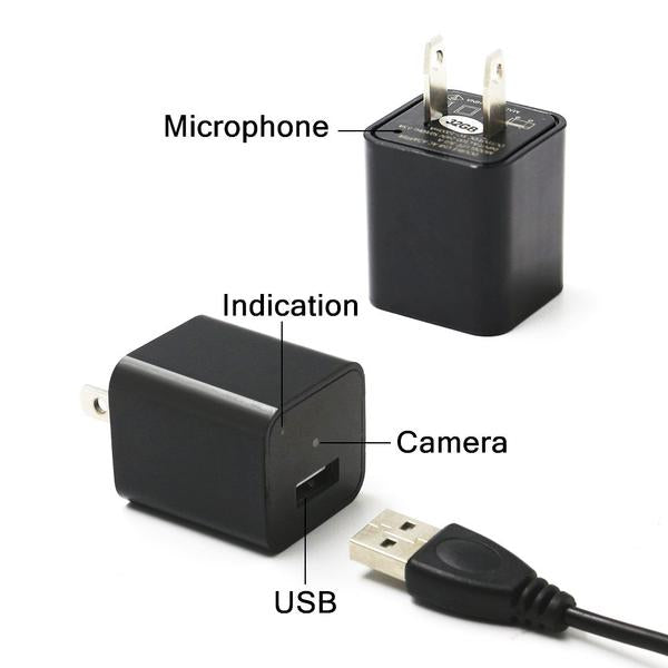 1080P USB Charger Hidden Camera - W/US PLUG (8/32GB)