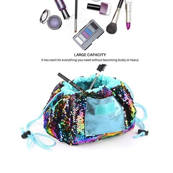 Travel Easy-to-pack Bag, Sequin Makeup Bag
