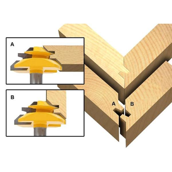 45 Degree Joint Router Bit Woodworking Cutter Tool Dt Creative Store