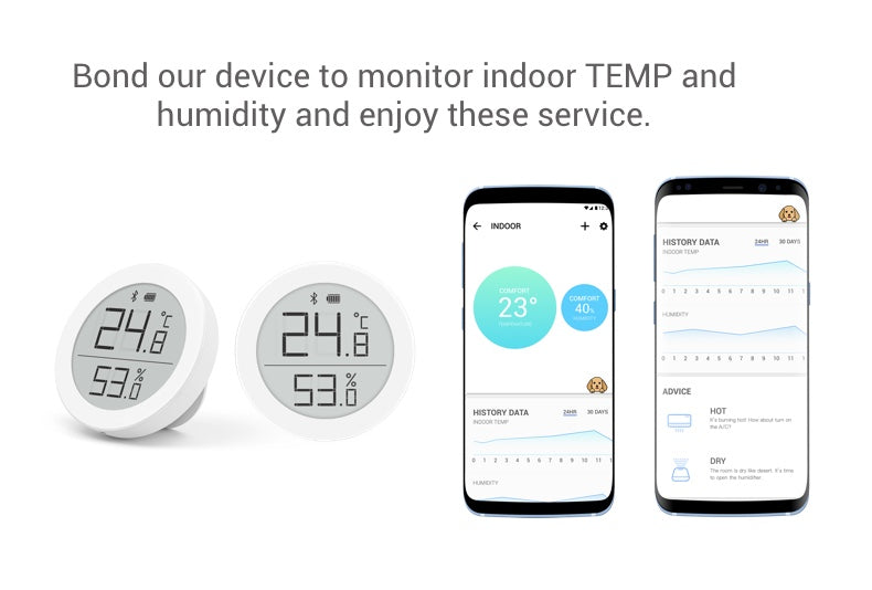 E-Ink Smart Bluetooth Thermometer