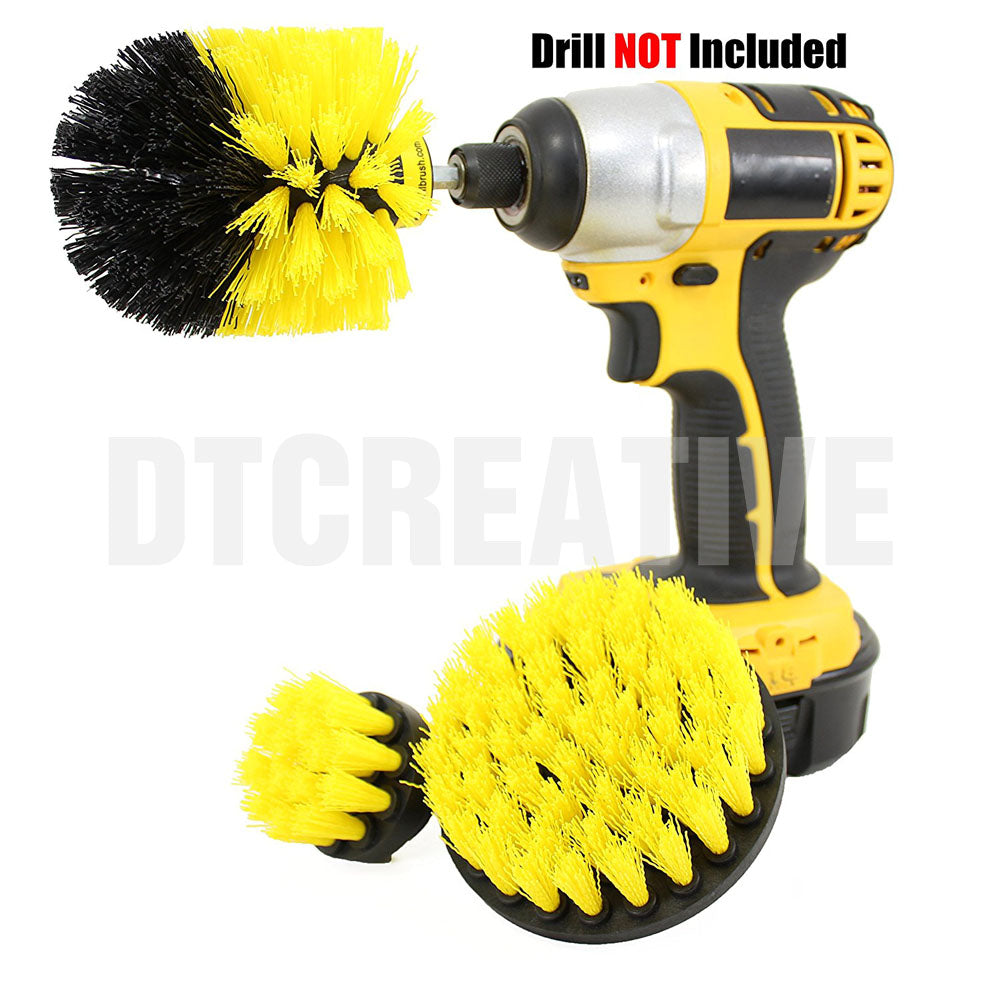 Amenitee Premium Drill Brush Attachment Set, 3 Shapes & Sizes