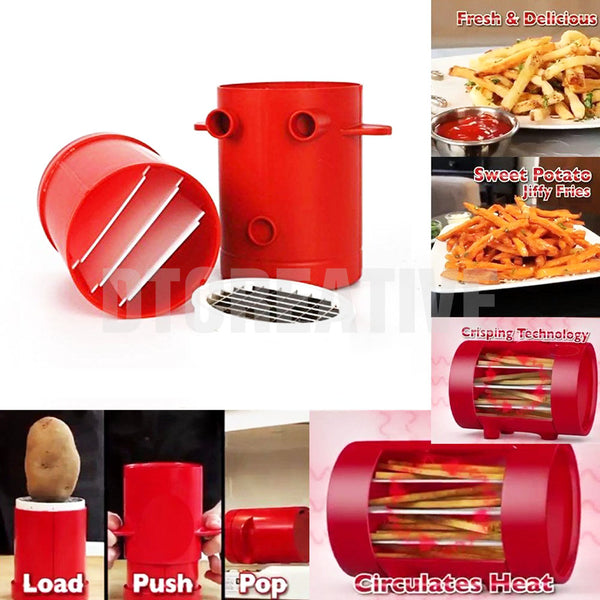 Edenware Perfect French Fries Maker and Cutter, Red