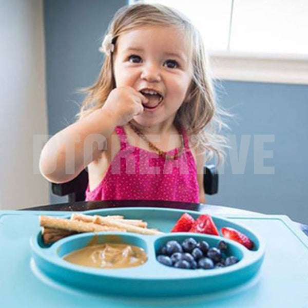 Edenware Silicone Non-Slip Placemat+Bowl for Kids and Babies