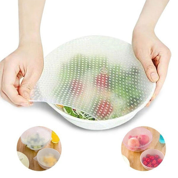 Silicone Reusable Food Wraps (4 PCs)