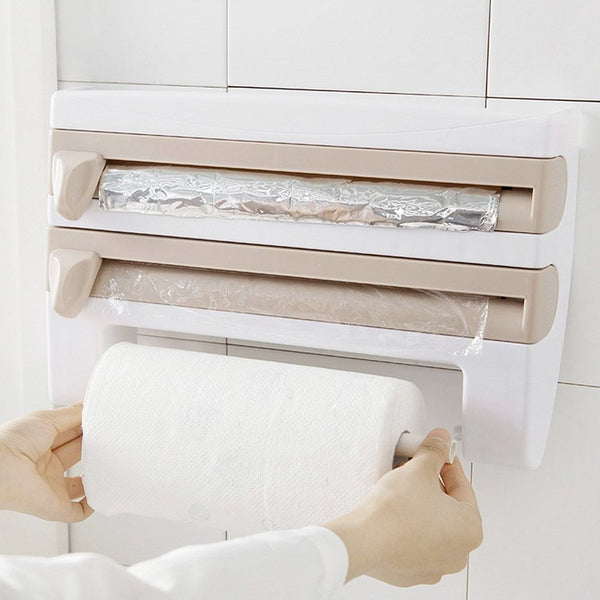 Edenware Wall-Mount 4-in-1 Towel and Plastic Wrap Foil Dispenser