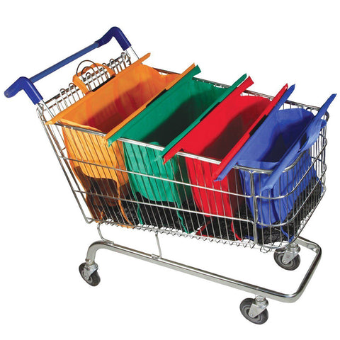 DHLD™ 4 Reusable Grocery Shopping Bags