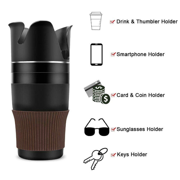 5-in-1 Multi-functional Car Cup Holder