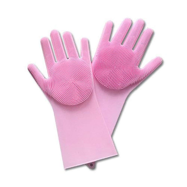 Silicone Dish Scrubber Pet Rubber Gloves