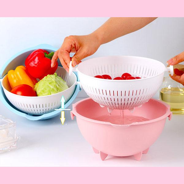 Wash and Drain Basket (Blue And Pink)