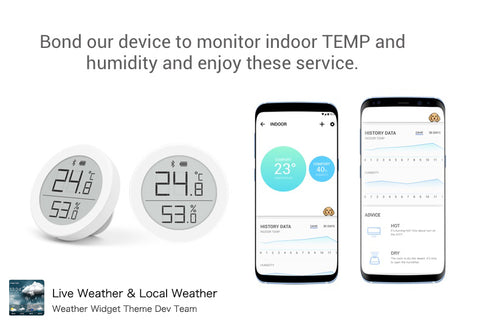 Bluetooth thermometer for Live Weather & Local Weather