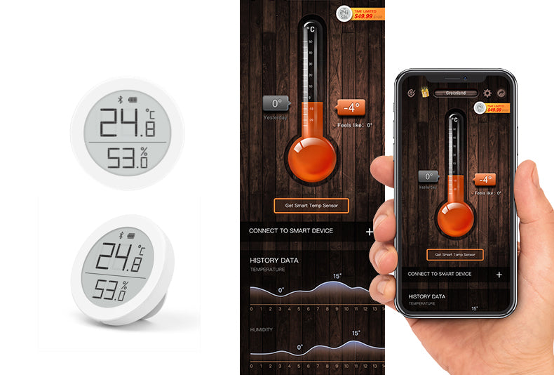 Bluetooth thermometer for iOS Digital Thermometer App