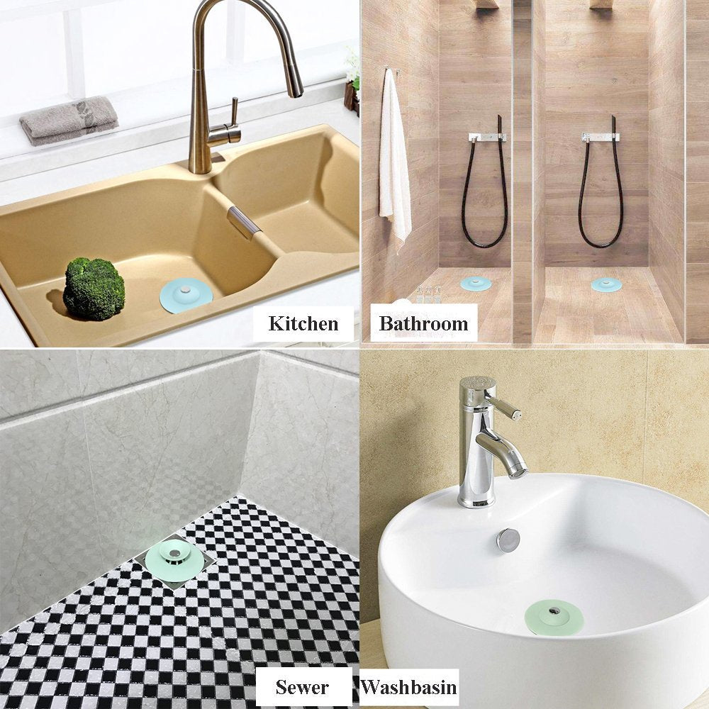 ... AShomie Shower Drain Stopper, Hair Catchers For Kitchen And Bathroom ...