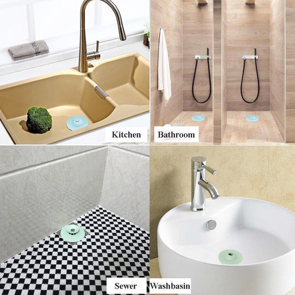 AShomie Shower Drain Stopper, Hair Catchers for Kitchen and Bathroom