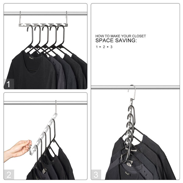 AShomie Magic Clothes Stainless Steel Hangers, 2 Packs
