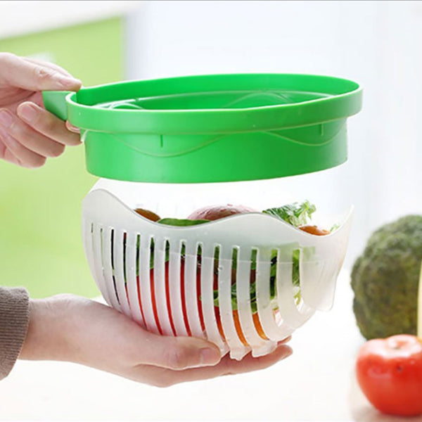 Edenware Upgraded Salad Cutter Bowl, Green