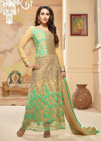 Suits Green , Beige,Georgette