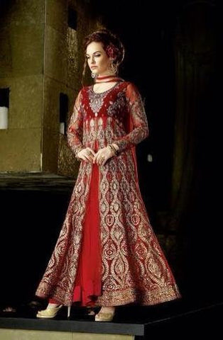 Suits Red,Poly Net , Silk