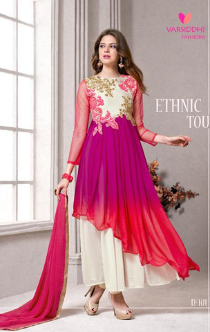 Multicolor,Pure georgette,Anarkali party wear designer suits