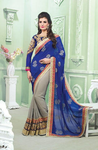 saree and blouse design