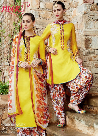 Suits Yellow  ,Pure Bemberg chiffon
