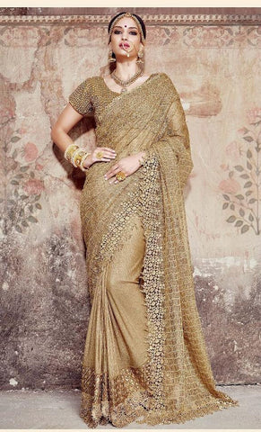 Saree Golden,Improted